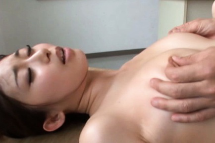 Japanese av model. Japanese AV Model has nipples rubbed and legs