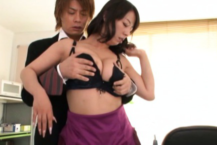 Japanese av model. Japanese AV Model has big melons played with and neck kissed