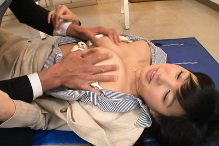 Nana ogura. Nana Ogura Asian has twat touched over nylon and cans fondled