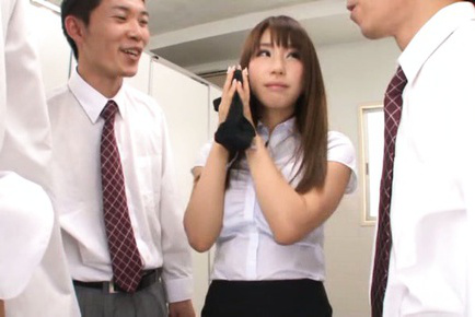 Shunka ayami. Lovely Shunka Ayami is young secretary and she