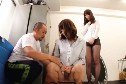 Japanese av model. Japanese AV Model has stockings ripped in