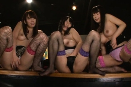 Claire hasumi. Claire Hasumi Asian and babes in fishnets